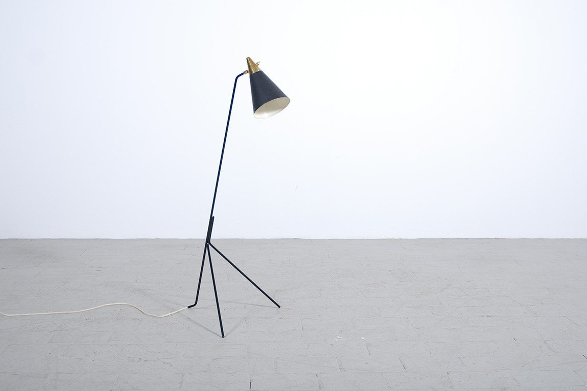 lampadaire tripode 1950 jasper. Black Bedroom Furniture Sets. Home Design Ideas