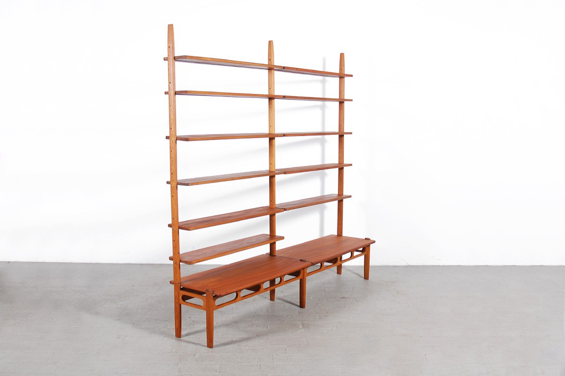 Tag re biblioth que scandinave en teck jasper - Bibliotheque scandinave ...