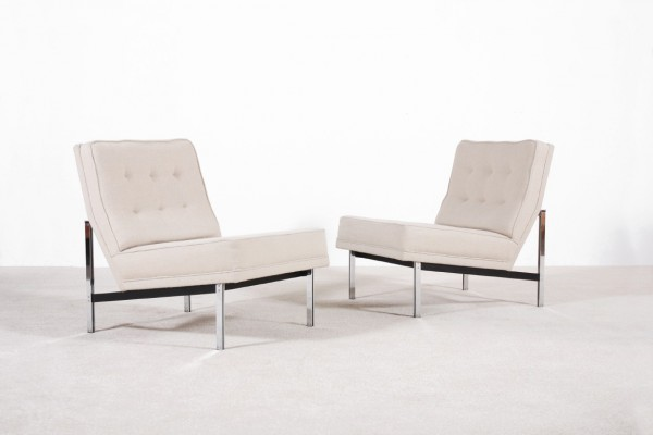 florence knoll international parallel bar armchairs 1965