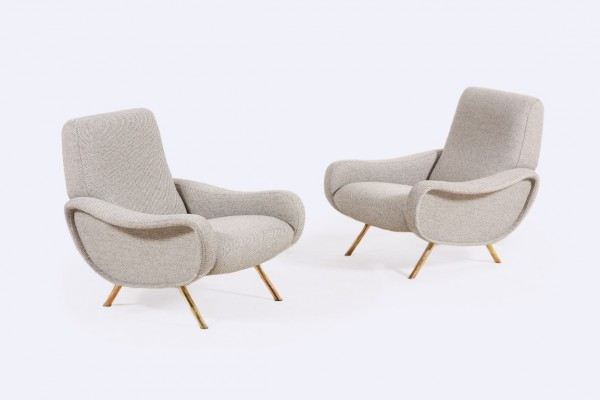 marco zanuso fauteuil lady 720 1951 gris italien 1960 arflex